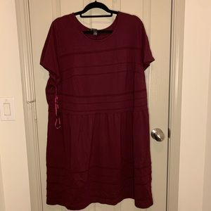 INC woman burgundy knit dress